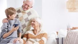 Wspólne chwile z Babcią i Dziadkiem przy herbacie